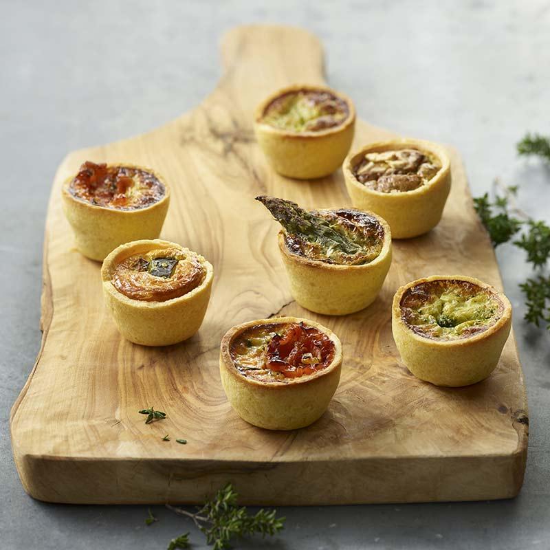Mini Quiches Végétariennes - Traiteur de Paris